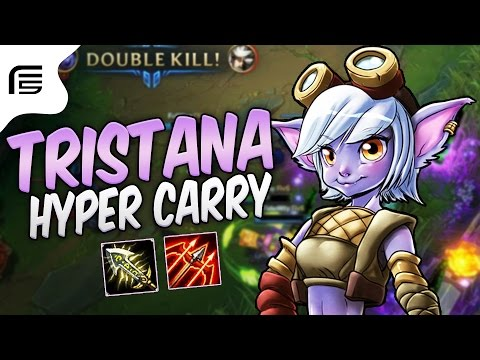 TRISTANA HYPER CARRY - LATE GAME FICARIA ABSURDO! - League of Legends - Fiv5 gameplay - [ PT-BR ]