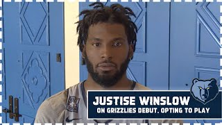 Justise Winslow on Grizzlies debut, addresses opting-in to play in Orlando