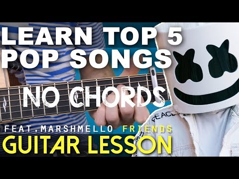 TOP 5 EASY POP SONGS (2018) Guitar Lesson   NO CHORDS (Friends, 2002, In My Blood)