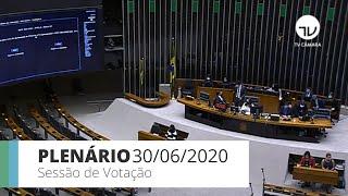 Plenário - Sessão para votação de propostas legislativas - 30/06/2020 13:55