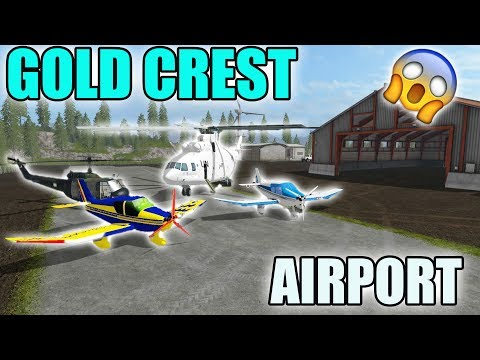 GOLD CREST AIRPORT | CONSTRUCTION | HANGER | FARMING SIMULATOR 2017