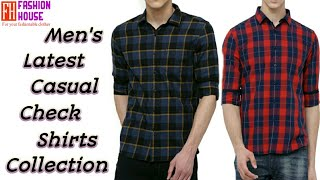 Top 20 Styles Mens Casual Check Shirts Collection(online)