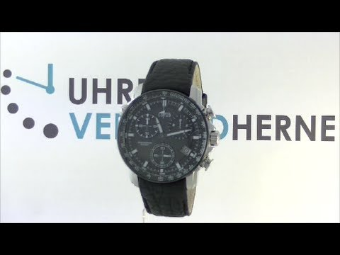 Lotus Uhr Herrenuhr 10112/4 Multifunktions-Uhr schwarz Lederarmband