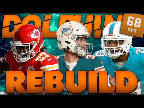 Josh Rosen Takes Over The Dolphins! Realistic Rebuild of The Miami Dolphins Madden 19 Franchise