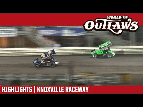 World of Outlaws Craftsman Sprint Cars Knoxville Raceway August 11, 2018   HIGHLIGHTS