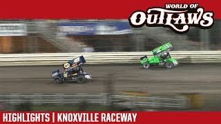 World of Outlaws Craftsman Sprint Cars Knoxville Raceway August 11, 2018 | HIGHLIGHTS