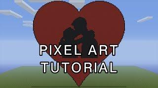 Minecraft Pixel Art Tutorial - Valentines Day Heart