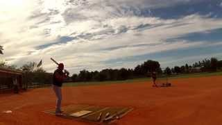 Todd Erickson Defeats Jose Canseco At A Softball Distance Challenge In FL