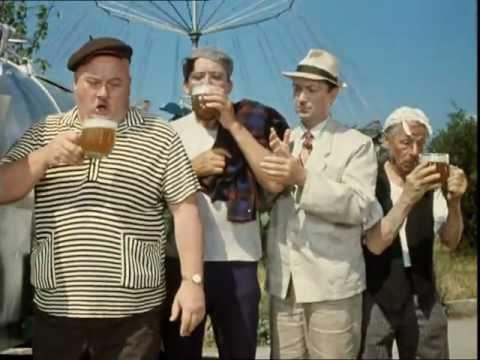 Никулин, Вицын и Моргунов пьют пиво