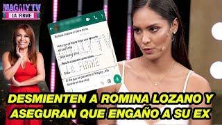 Familiar Del Ex De Romina Lozano Desmiente A Modelo Y Asegura Que Fue Infiel