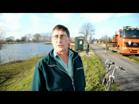 Hoogwater van de Maas in Gennep