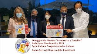 Emessa la moneta dedicata a Tortellini e Lambrusco. Nuovo omaggio al Made in Italy.
