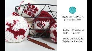 Knitted Christmas Balls + Pattern