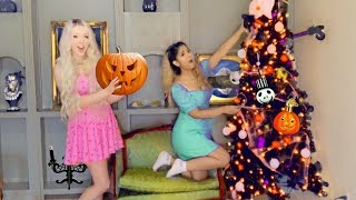 We Decorate a Spooky HALLOWEEN Tree in My Haunted Mansion...