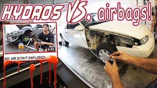 Doug sh!ts on TJ Hunt's air strut setup! - WHITE RIDER #32