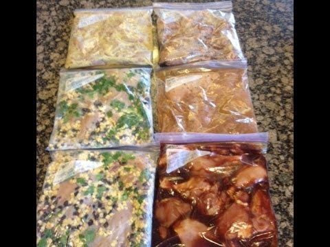 Video 6 Chicken Crock Pot Freezer Meals