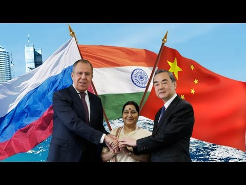 Foreign ministers from Russia, India and China Meet in New Delhi