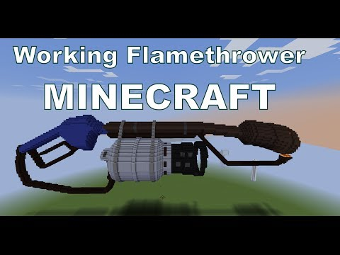 TF2 Flamethrower WORKING NO MODS Minecraft Project
