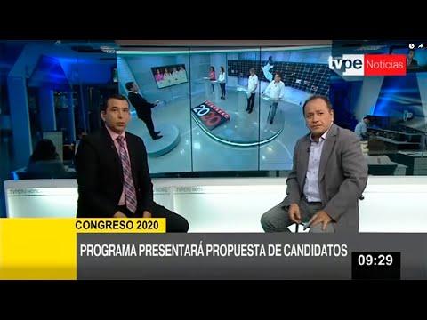 """TVPerú presenta propuestas de candidatos en """"Congreso 2020"""""""