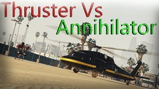 Gta 5 Online | Annihilator Vs Thruster ( Jet Pack ) In Depth Comparision