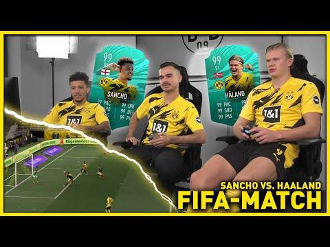 """Oh my god, what a goal?!""   Haaland vs. Sancho   FIFA 21"