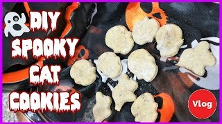 DIY Halloween Cat Cookies - How To Make Homemade Cat Treats? Spooky Cat Cookie Tutorial 👻🎃🙀