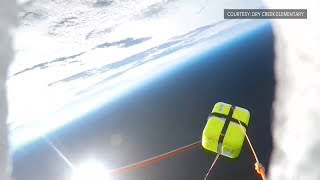 Watch this weather balloon launch into the stratosphere