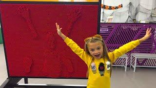 ВЛОГ Идем в Музей Науки с Ярославой! Развлечение для детей Батуты Pin Screen Giant!