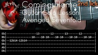 Coming Home Guitar Solo Lesson - Avenged Sevenfold (with tabs)