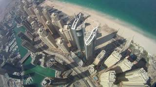Flying though the skyscrapers in Dubai.
