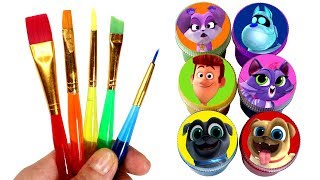 Puppy Dog Pals Drawing & Painting & Fruits Drawing Surprise Toys Bingo Rolly Hissy Bob ARF Rufus