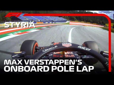 ポールポジションのフェルスタッペンのオンボード映像 F1第8戦オーストリアGP