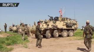 US troops deployed at Syrian border to prevent Turkish & Kurdish forces clashes