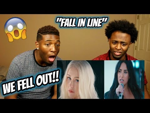 Christina Aguilera - Fall In Line  ft. Demi Lovato (WE FELL OUT OUR CHAIRS!!)