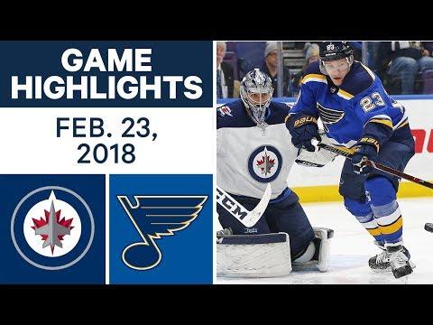 NHL Game Highlights | Jets vs. Blues - Feb. 22, 2018