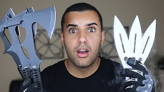IMPOSSIBLE THROWING KNIFE / TOMAHAWK TRICK SHOTS!!!! CHALLENGE!! *WORLD RECORD*