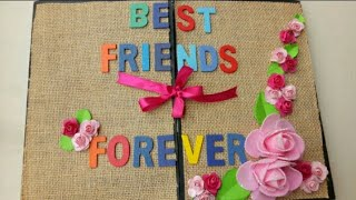 Scrapbook Card For Best Friend||Photo Scrapbook For Best Friend || BFF Scrapbook