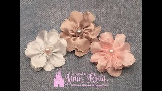 How To Make Fabric Flowers Part 3 - Die Cutting Technique