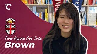 youtube video thumbnail - How Ayaka Got Into Brown University