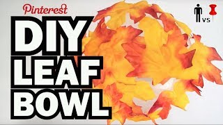 DIY Autumn Leaf Bowl - Man Vs. Pin #39