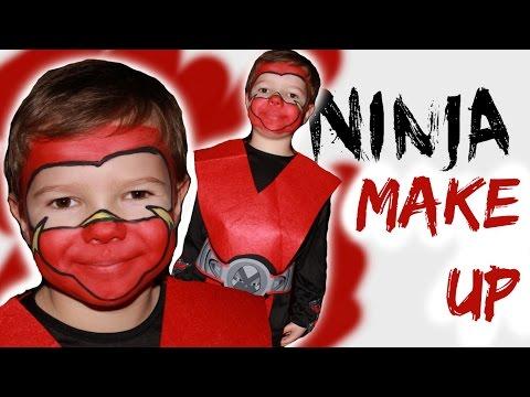 Ninja schmink voor carnaval of kinderfeest
