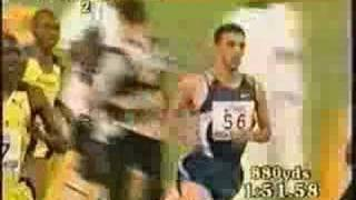 Hicham El Guerrouj sets a world record in the mile