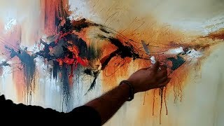 """Abstract Painting / Demonstration Of Abstract Painting """"Painted Rythm"""" / Acrylics"""