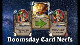 Hearthstone Quick Take: Boomsday Nerfs and Meta Polarity