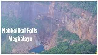 Nohkalikai Falls near Cherrapunji