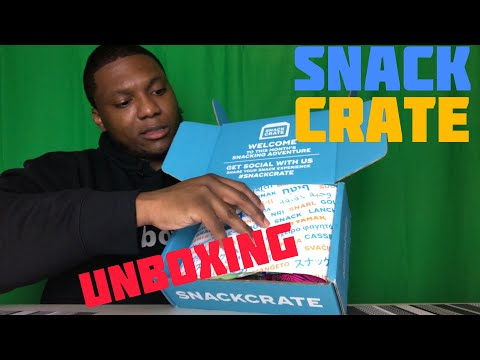 ASMR SNACK CRATE UNBOXING | (DBOYD)