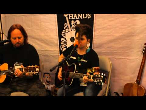 13 yr Verona Rose covers Stevie Nicks Gold Dust Woman at 2014 NAMM Guitar Hands Booth