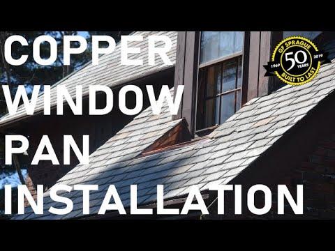 Copper Window Pan Installation in Waban, MA