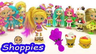 Shopkins Shoppies Pam Cake Doll with Season 5 Exclusives and App Card Toy Unboxing
