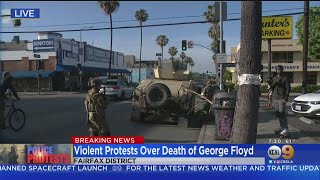 National Guard Arrives To LA After Night Of Violent Protests With Rocks, Bricks, Metal Rods Thrown A